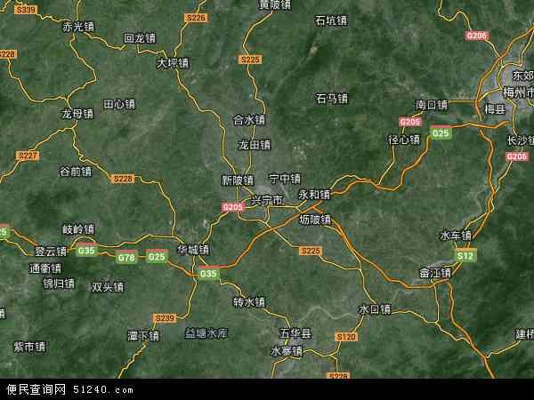 兴宁_兴宁市地图 - 兴宁市卫星地图 - 兴宁市高清航拍地图