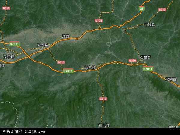 西乡县卫星地图 - 西乡县高清卫星地图 - 西乡县高清航拍地图 - 2018