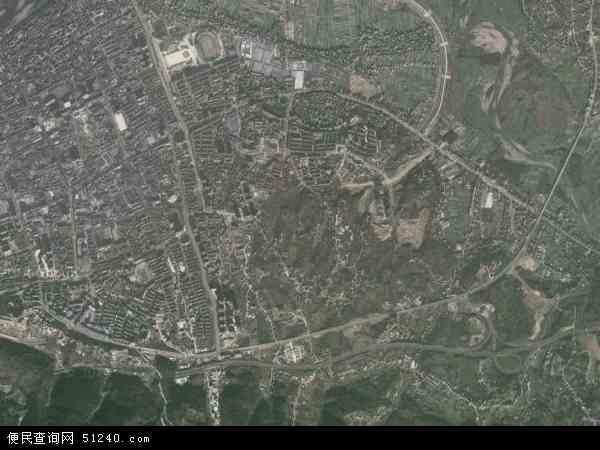 中国陕西省安康市汉滨区新城地图(卫星地图)