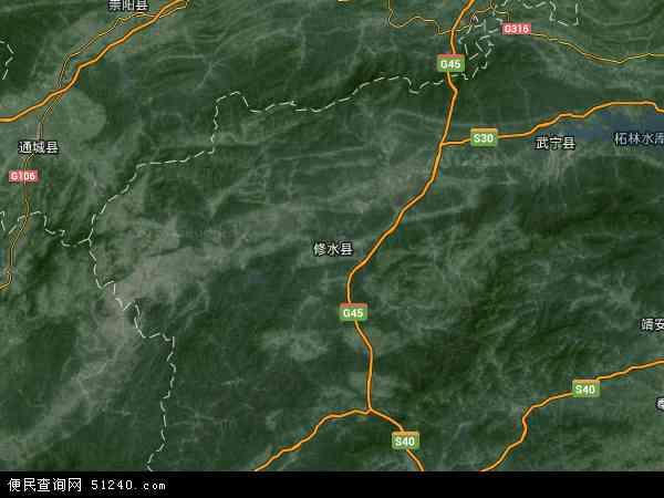 中国江西省九江市修水县余段乡地图(卫星地图)