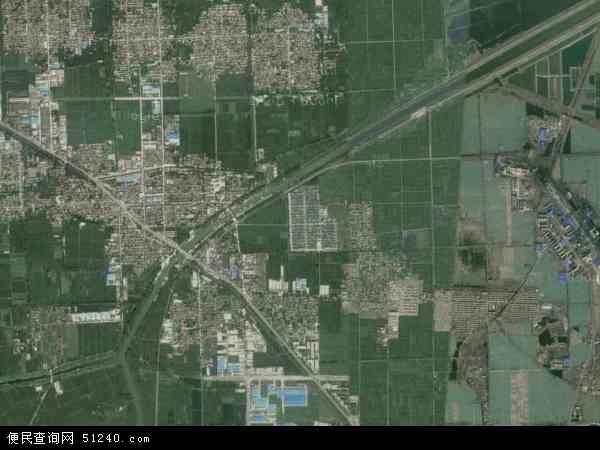 中国江苏省徐州市沛县杨屯镇地图(卫星地图)