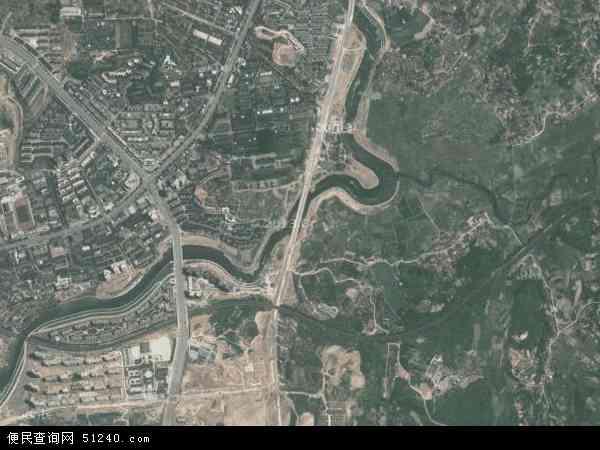 中国湖南省怀化市鹤城区迎丰地图(卫星地图)