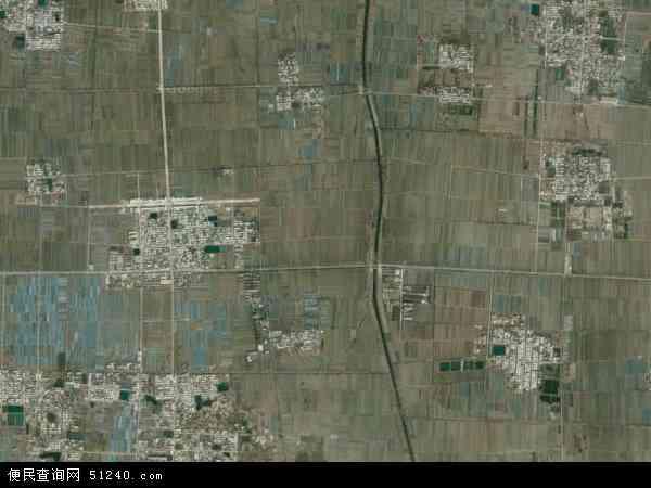 中国山东省聊城市东昌府区于集镇地图(卫星地图)
