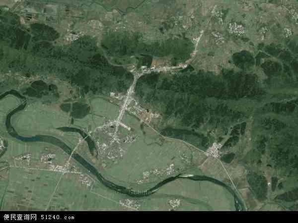 中国安徽省池州市东至县张溪镇地图(卫星地图)