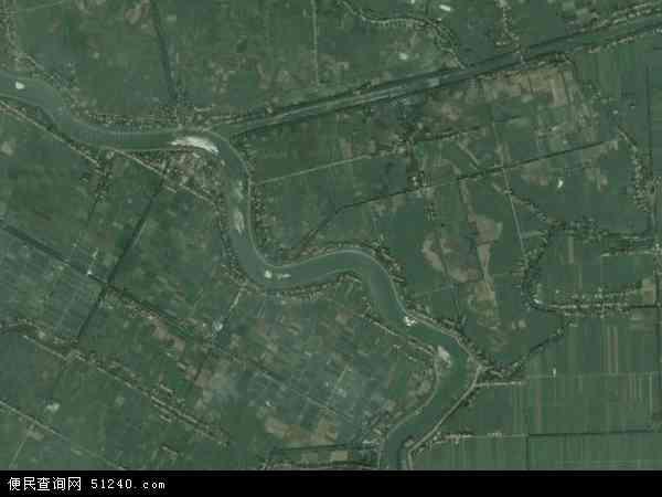 中国湖南省岳阳市华容县治河渡镇地图(卫星地图)