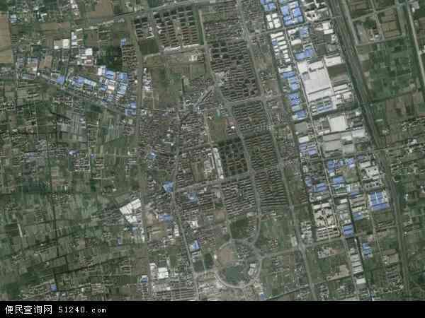 中国上海市浦东新区祝桥镇地图(卫星地图)