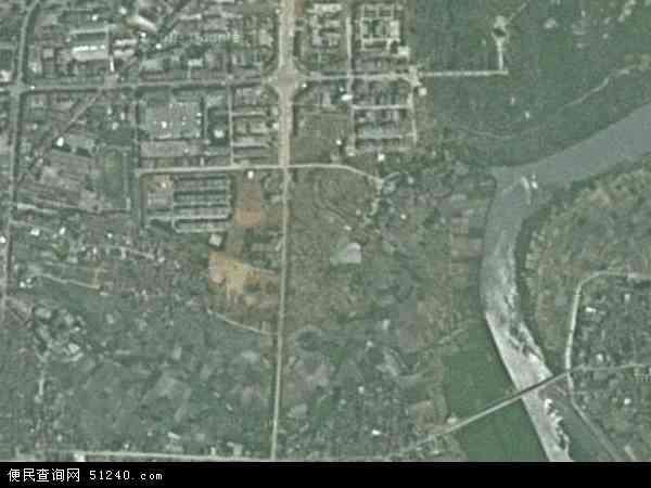 中国湖南省郴州市嘉禾县珠泉镇地图(卫星地图)