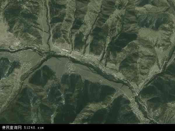 中国四川省阿坝藏族羌族自治州若尔盖县阿西茸乡地图(卫星地图)
