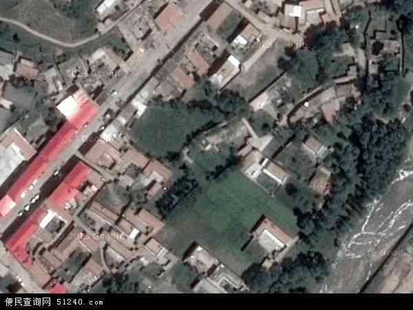 中国青海省海东市化隆回族自治县昂思多镇地图(卫星地图)