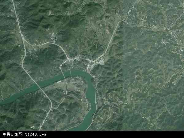 中国广东省梅州市梅县白渡镇地图(卫星地图)