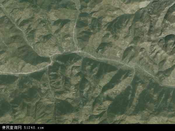 中国甘肃省陇南市礼县白关乡地图(卫星地图)