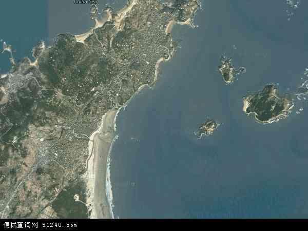 中国福建省福州市平潭县白青乡地图(卫星地图)
