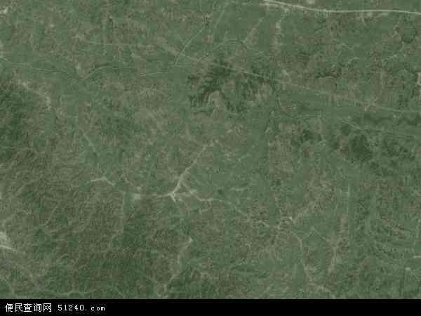 中国安徽省六安市金寨县白塔畈镇地图(卫星地图)