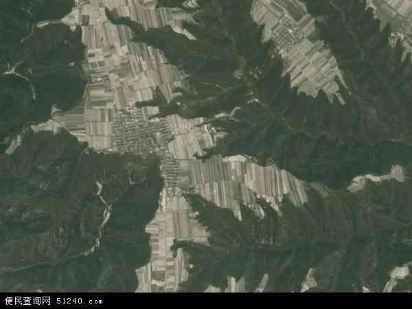 中国陕西省延安市黄陵县仓村乡地图(卫星地图)