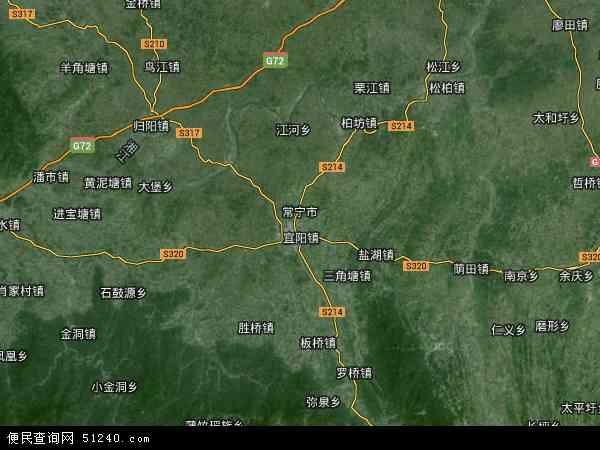 常宁市高清卫星地图 常宁市2016年卫星地图 中国湖南省衡阳市常宁