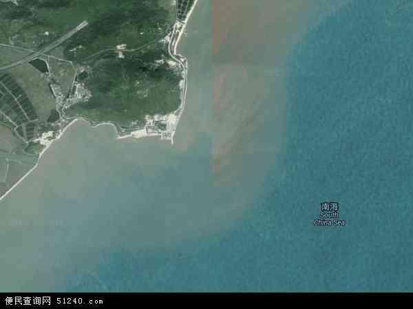 中国广东省江门市台山市川岛镇地图(卫星地图)
