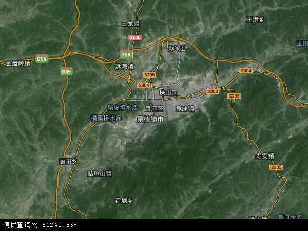 昌江区高清卫星地图