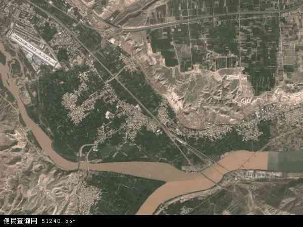 达川乡2017年卫星地图 中国甘肃省兰州市西固区达川乡地图