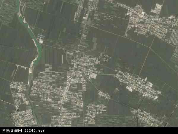 中国辽宁省锦州市黑山县段家乡地图(卫星地图)