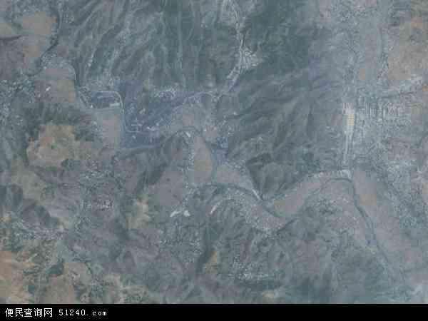 中国贵州省六盘水市钟山区大湾镇地图(卫星地图)
