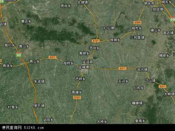 定远县卫星地图 - 定远县高清卫星地图 - 定远县高清航拍地图 - 2018