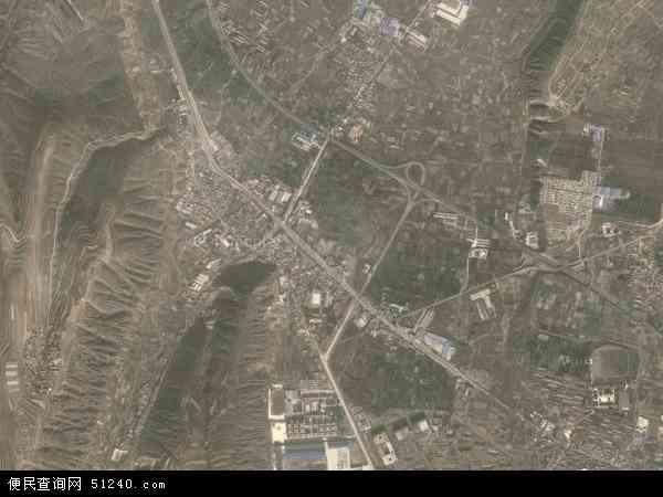 中国甘肃省兰州市榆中县定远镇地图(卫星地图)