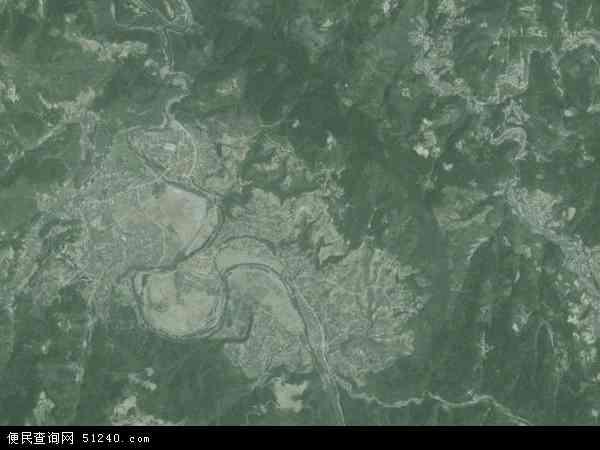 中国陕西省安康市平利县大贵镇地图(卫星地图)