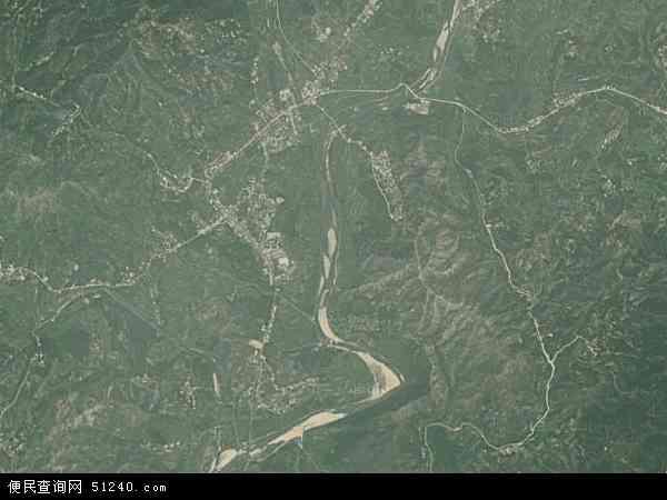 中国湖北省黄冈市麻城市福田河镇地图(卫星地图)