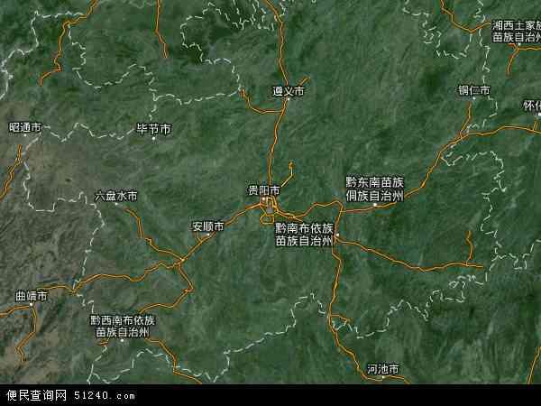 贵州省地图 - 贵州省卫星地图