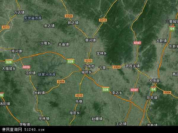 广水市地图 - 广水市卫星地图图片