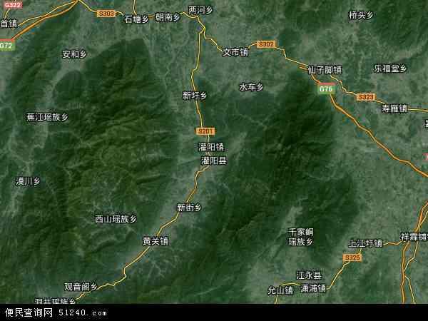 灌阳县地图 - 灌阳县卫星地图图片