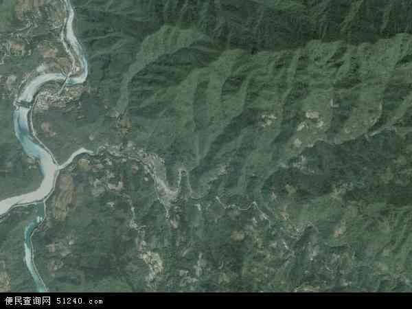 中国湖北省襄阳市保康县过渡湾镇地图(卫星地图)