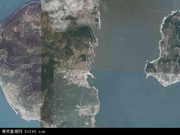 中国山东省烟台市长岛县黑山乡地图(卫星地图)
