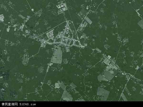 韩场镇高清卫星地图