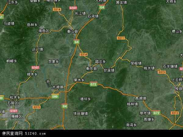 中国湖南省衡阳市衡东县地图(卫星地图)