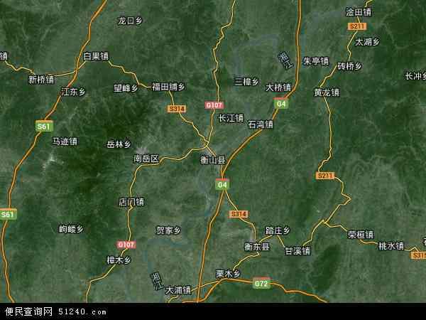 衡山县高清卫星地图 衡山县2016年卫星地图 中国湖南省衡阳市衡山