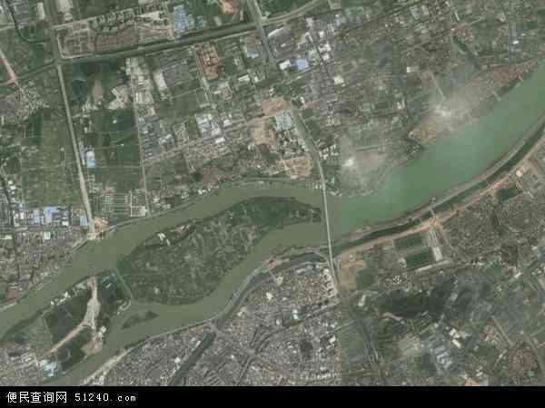 中国广东省东莞市石碣镇鹤田厦村地图(卫星地图)