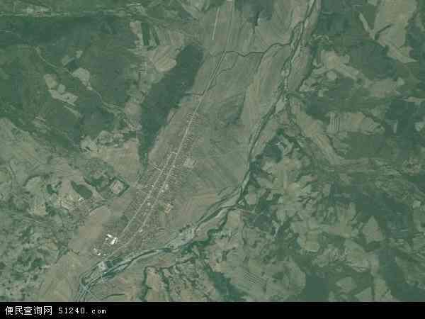 中国吉林省白山市浑江区红土崖镇地图(卫星地图)