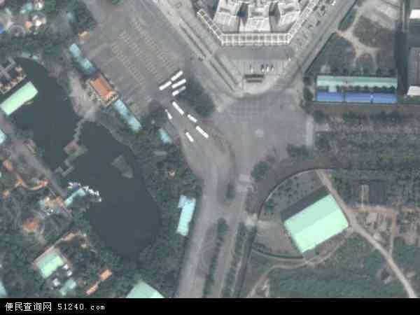 中国广东省中山市坦洲镇合胜社区地图(卫星地图)