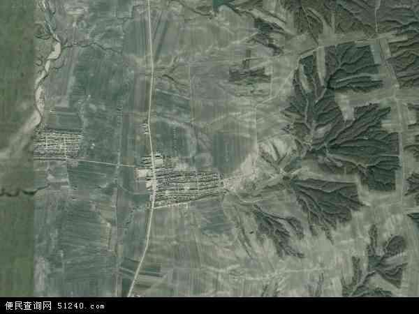 中国黑龙江省哈尔滨市木兰县建国乡地图(卫星地图)