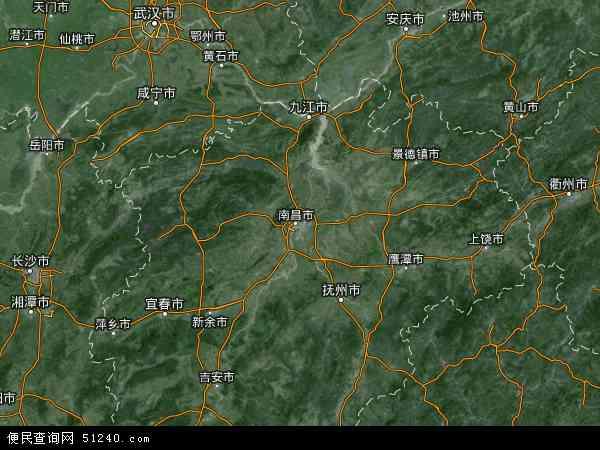 江西省卫星地图图片展示