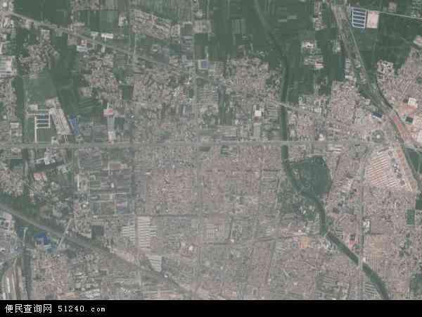 中国河南省商丘市梁园区建设地图(卫星地图)图片