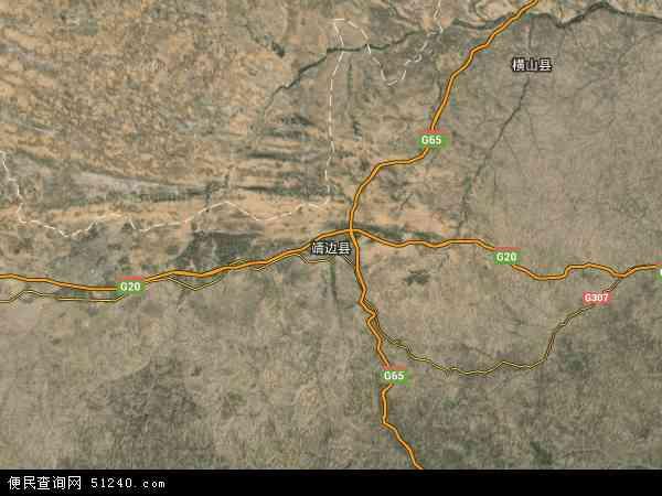 靖边县地图 靖边县卫星地图 靖边县高清航拍地图 靖边县高清卫星地图 高清图片