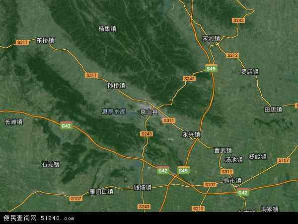 荆门市三维地图_京山县地图 - 京山县卫星地图 - 京山县高清航拍地图