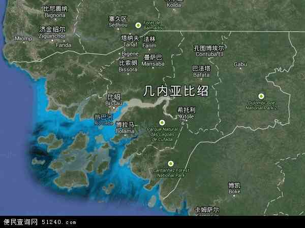 几内亚比绍卫星地图