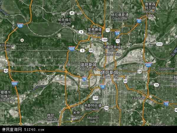 堪萨斯城高清航拍地图