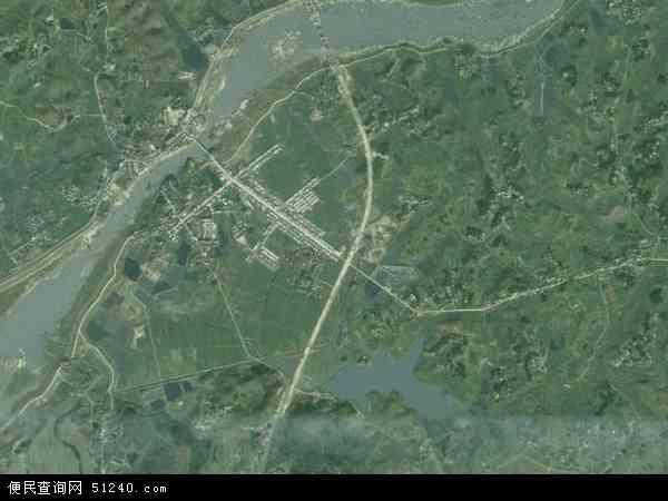 中国湖北省黄冈市浠水县兰溪镇地图(卫星地图)