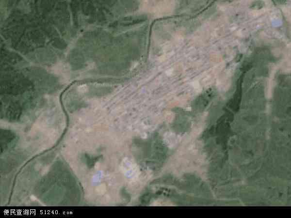中国吉林省通化市柳河县柳河镇地图(卫星地图)
