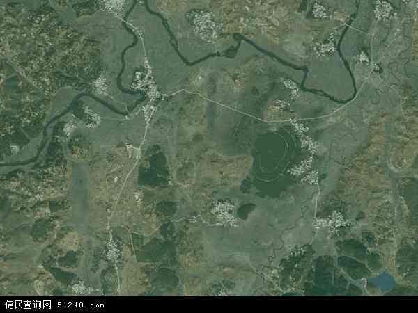中国贵州省安顺市西秀区刘官乡地图(卫星地图)