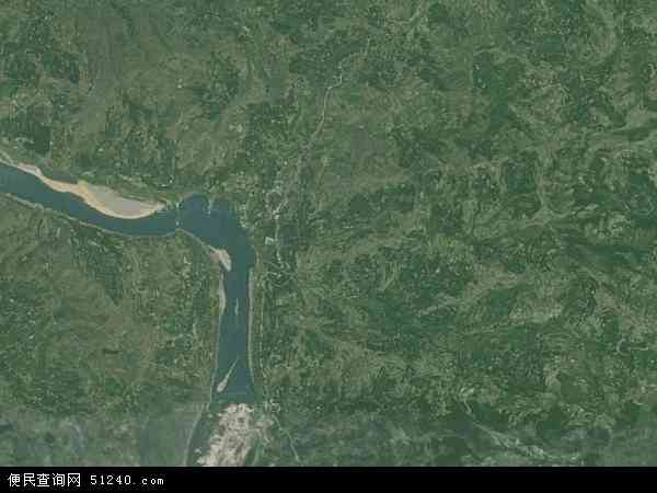 龙会乡2018年卫星地图 中国四川省达州市达川区龙会乡地图